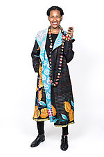 Hooded Long Coat #4 by Mieko Mintz  (One Size (4-16), Cotton Jacket)