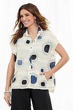 Dots Cap Sleeve Shirt by Mieko Mintz (Woven Top)