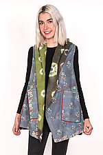 Hooded Vest #4 by Mieko Mintz  (One Size (4-14), Cotton Vest)