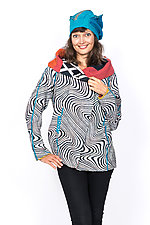 Hoodie Jacket #6 by Mieko Mintz  (Large (10-12), Cotton Jacket)