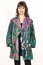 Back Tuck Jacket #1 by Mieko Mintz  (Size L (14-16), Silk Jacket)