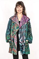 Back Tuck Jacket #1 by Mieko Mintz  (Size L (14-16), Silk Jacket)