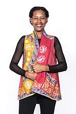 A-Line Short Vest #3 by Mieko Mintz  (Size 1 (6-12), Cotton Vest)