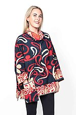 Cowl Collar Tunic #7 by Mieko Mintz  (One Size (4-16), Cotton Tunic)