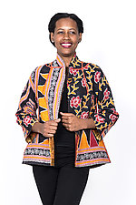 Flare Short Jacket #1 by Mieko Mintz  (Medium (8-10), Cotton Jacket)