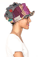 Tucked Brim Hat #3 by Mieko Mintz  (One Size, Cotton Hat)