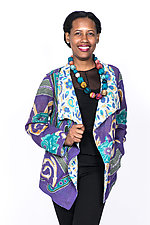 Wing Collar Jacket #4 by Mieko Mintz  (Extra Large (18-20), Cotton Jacket)