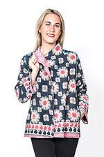 Short Jacket #8 by Mieko Mintz  (Large (10-14), Cotton Jacket)