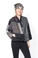 Cropped Jacket #15 by Mieko Mintz  (One Size (2-16), Cotton Jacket)