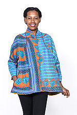 Flare Short Jacket #3 by Mieko Mintz  (Large (12-14), Cotton Jacket)