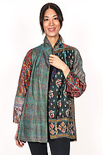 Flare Long Jacket #1 by Mieko Mintz  (Size M (8-10), Silk Jacket)
