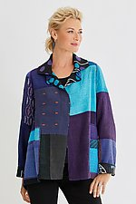 Kantha Patch Jacket by Mieko Mintz  (Woven Jacket)