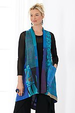 Vintage Silk Patch A-Line Vest by Mieko Mintz (Silk Vest)
