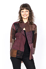 Short Jacket #9 by Mieko Mintz  (Small (2-4), Silk Jacket)