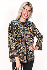 Short Jacket #7 by Mieko Mintz  (Size XL (16-18), Cotton Jacket)