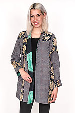 High-Neck Topper #3 by Mieko Mintz  (One Size (6-14), Cotton Jacket)