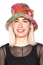 Full Brim Hat #6 by Mieko Mintz  (One Size, Cotton Hat)