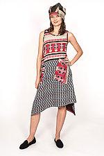 Pointy Hem Dress #4 by Mieko Mintz  (Size S (6-8), Cotton Dress)