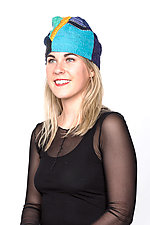 Patchwork Hat #10 by Mieko Mintz  (Cotton Hat)