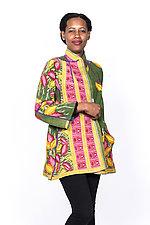 Flare Long Jacket #1 by Mieko Mintz  (Small (2-6), Cotton Jacket)