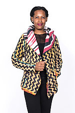 Hoodie Jacket #7 by Mieko Mintz  (Large (10-12), Cotton Jacket)
