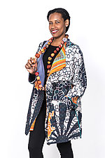 Funnel Collar Coat #6 by Mieko Mintz  (One Size (4-16), Cotton Jacket)