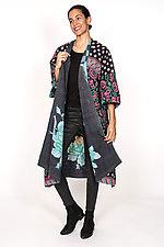 Kimono Maxi #3 by Mieko Mintz  (One Size (2-16), Cotton Coat)