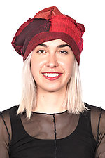 Mix Kantha Beret #2 by Mieko Mintz  (One Size, Silk & Cotton Hat)