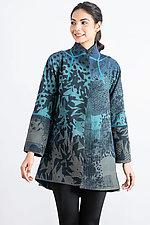 Kantha Flare Long Jacket by Mieko Mintz (Cotton Jacket)