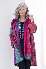 Kimono Long Jacket #1 by Mieko Mintz  (One Size (2-16), Silk Jacket)