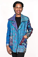 Pocket Jacket #4 by Mieko Mintz  (One Size (2-14), Silk Jacket)