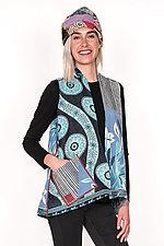 A-Line Short Vest #3 by Mieko Mintz  (One Size (6-12), Cotton Vest)