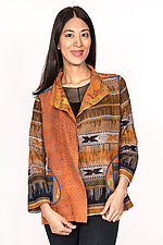 Short Jacket #4 by Mieko Mintz  (Size L (10-14), Cotton Jacket)