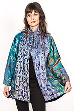 Flare Long Jacket #2 by Mieko Mintz  (Size L (12-14), Silk Jacket)