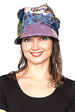 Tucked Brim Hat #4 by Mieko Mintz  (One Size, Cotton Hat)