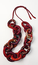 Silk Kantha Convertible Chain Necklace by Mieko Mintz  (Silk Necklace)