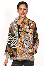 Short Jacket #11 by Mieko Mintz  (Size L (10-14), Cotton Jacket)