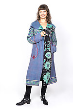 Hooded Long Coat #3 by Mieko Mintz  (One Size (4-16), Cotton Jacket)