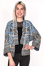 Dolman Short Jacket #1 by Mieko Mintz  (Size M (8-12), Cotton Jacket)