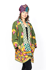 A-Line Jacket #2 by Mieko Mintz  (Size 1 (8-14), Cotton Jacket)