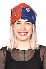 Patchwork Hat #4 by Mieko Mintz  (One Size, Cotton Hat)