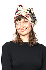 Persimmon Hat #2 by Mieko Mintz  (Cotton Hat)