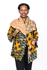 Circular Long Jacket #2 by Mieko Mintz  (One Size (2-16), Cotton Jacket)
