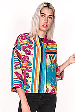Cropped Jacket #10 by Mieko Mintz  (One Size (2-16), Cotton Jacket)