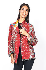 Short Jacket #3 by Mieko Mintz  (Large (10-14), Cotton Jacket)