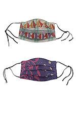Kids Kantha Face Masks, Set of 2 by Mieko Mintz (Reusable Face Masks)