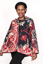 Back Flare Jacket #6 by Mieko Mintz  (One Size (2-14), Cotton Jacket)