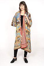 Kimono Maxi #2 by Mieko Mintz  (One Size (2-16), Cotton Coat)