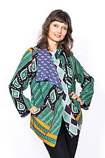 Wing Collar Jacket #1 by Mieko Mintz  (Large (14-16), Cotton Jacket)
