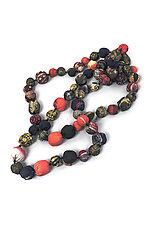 Silk Kantha Necklace #21 by Mieko Mintz  (Silk Necklace)